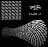 Braid 45 (Braided Graphite + Kevlar 45)