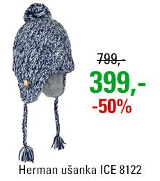 Ušanka ICE 8122 BLEU