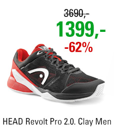 HEAD Revolt Pro 2.0. Clay Men Black/Red 2017
