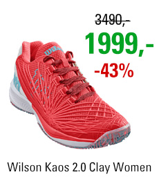 Wilson Kaos 2.0 Clay Women Fiery Coral