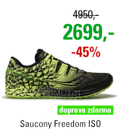 Saucony Freedom ISO Black/Citron
