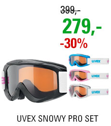 UVEX SNOWY PRO SET polarwhite/black/iceblue/pink S55S8241312 18/19