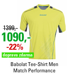 Babolat Tee-Shirt Men Match Performance Yellow 2015