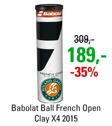 Babolat Ball French Open Clay X4 2015