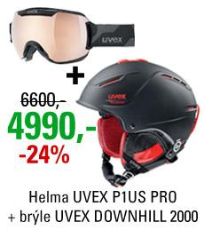 UVEX P1US PRO + UVEX DOWNHILL 2000