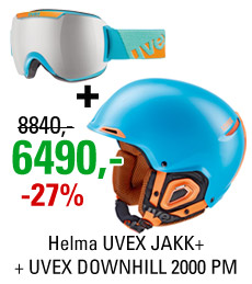 UVEX JAKK+ Blue + UVEX DOWNHILL 2000 PM