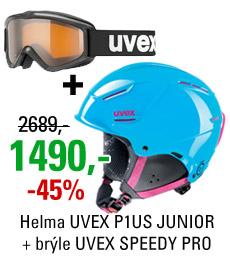 UVEX P1US JUNIOR Blue + UVEX SPEEDY PRO
