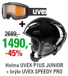 UVEX P1US JUNIOR Black + UVEX SPEEDY PRO