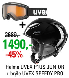 UVEX P1US JUNIOR Black + UVEX SPEEDY PRO