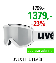 UVEX FIRE FLASH, white/litemirror silver S5505051026