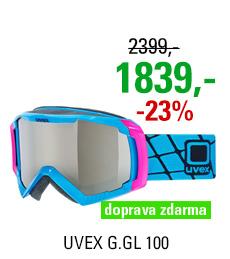 UVEX G.GL 100, cyan shiny/ltm silver S5506274026