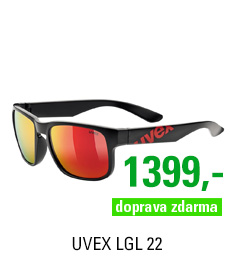 UVEX LGL 22, BLACK MAT RED