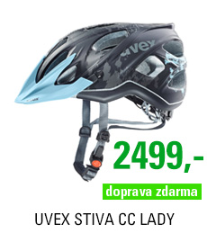 UVEX STIVA CC LADY, BLACK-FLOWER BLUE MAT