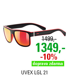 UVEX LGL 21, BLACK MAT RED