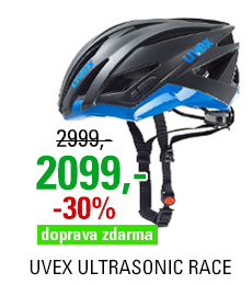 UVEX ULTRASONIC RACE, BLACK MAT-BLUE