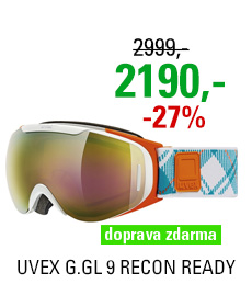 UVEX G.GL 9 RECON READY, white orange dl/ltm gold S5507001126