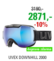 UVEX DOWNHILL 2000, black mat/blue S5501152426