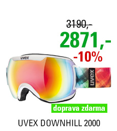 UVEX DOWNHILL 2000, white/rainbow S5501151526