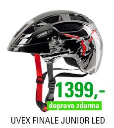 UVEX FINALE JUNIOR LED, DRAGON RED BLACK