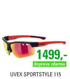 UVEX SPORTSTYLE 115, BLACK MAT RED