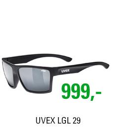UVEX LGL 29, BLACK MAT/MIR. SILVER