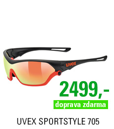 UVEX SPORTSTYLE 705, BLACK MAT ORANGE