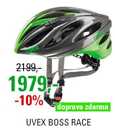 UVEX BOSS RACE, GREY-NEON GREEN 2017