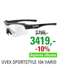 UVEX SPORTSTYLE 104, VARIO BLACK MAT/SMOKE