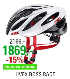 UVEX BOSS RACE, WHITE-BLACK