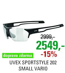 UVEX SPORTSTYLE 202 SMALL VARIO, BLACK MAT/SMOKE