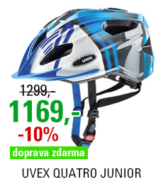 UVEX QUATRO JUNIOR, BLUE-SILVER