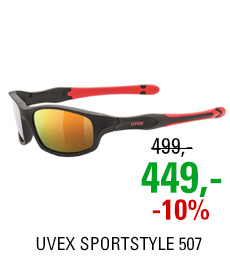 UVEX SPORTSTYLE 507, BLACK MAT RED