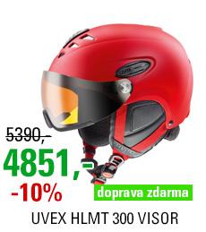 UVEX HLMT 300 VISOR red mat S566162300
