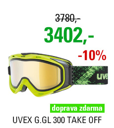 UVEX G.GL 300 TAKE OFF lime mat/mir.gold S5502137026