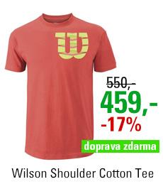 Wilson Shoulder W Cotton Tee Coral