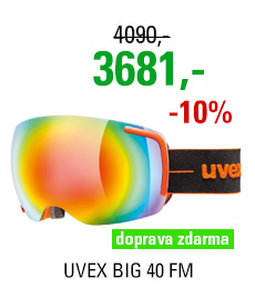 UVEX BIG 40 FM orange mat double lens S5504416026