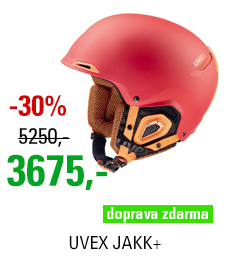 UVEX JAKK+ red-orange mat S566182380 16/17