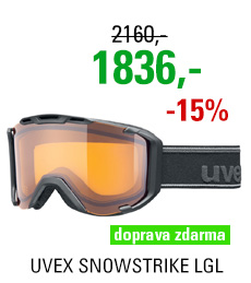 UVEX SNOWSTRIKE LGL, black mat dl/lasegold lite S5504202029