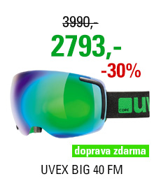 UVEX BIG 40 FM, black-green mat/mirror green S5504412726