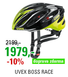 UVEX HELMA BOSS RACE, BLACK-NEON YELLOW 2018