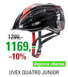 UVEX HELMA QUATRO JUNIOR, BLACK-RED 2018