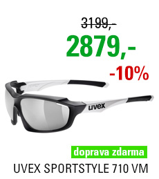 UVEX BRÝLE SPORTSTYLE 710 VM, BLACK MAT WHITE (2805)