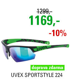 UVEX BRÝLE SPORTSTYLE 224, BLACK MAT GREEN