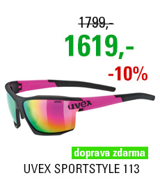 UVEX BRÝLE SPORTSTYLE 113, BLACK MAT PINK