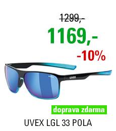 UVEX LGL 33 POLA, BLACK BLUE