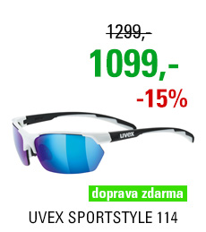 UVEX BRÝLE SPORTSTYLE 114, WHITE BLACK MAT