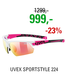 UVEX BRÝLE SPORTSTYLE 224, WHITE PINK