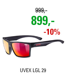 UVEX LGL 29, BLACK MAT/MIR. RED