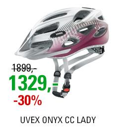 UVEX HELMA ONYX CC LADY, WHITE-RED MAT 2018