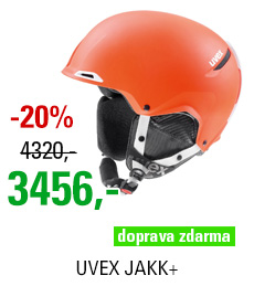 UVEX JAKK+ orange-white mat S566209800 17/18
